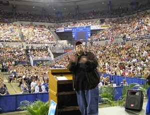 Michael Moore in Nashville 2004